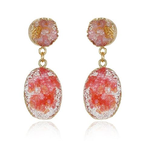 Jewelry fashion resin gravel earrings imitation natural stone gravel earrings NHGO176076's discount tags