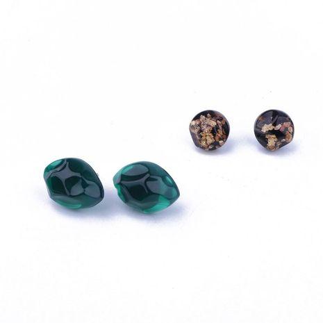 Nouveaux bijoux simples boucles d'oreilles en forme d'oeil vert boucles d'oreilles en résine NHGO176082's discount tags