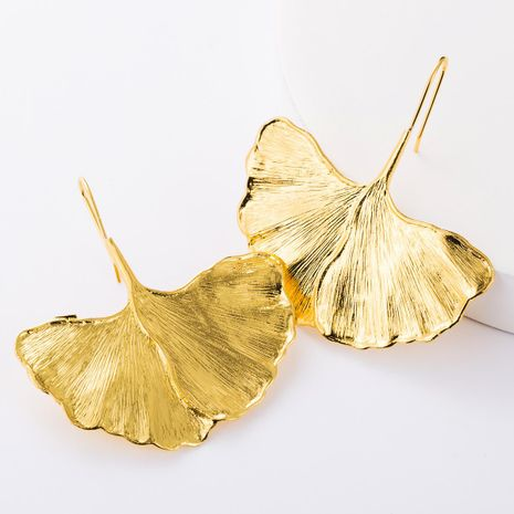 Creative alloy ginkgo leaves earrings women fashion minimalist wind earrings new NHJE176156's discount tags