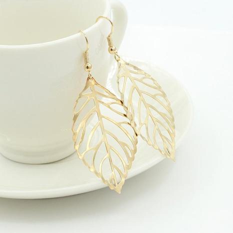 Fashion simple Mori metal leaf earrings new leaf earrings NHDP176217's discount tags