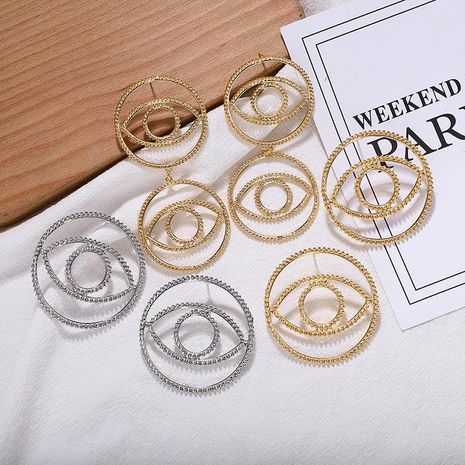 Alloy plating circle eye earrings metal earrings new earrings accessories small jewelry NHJQ176158's discount tags
