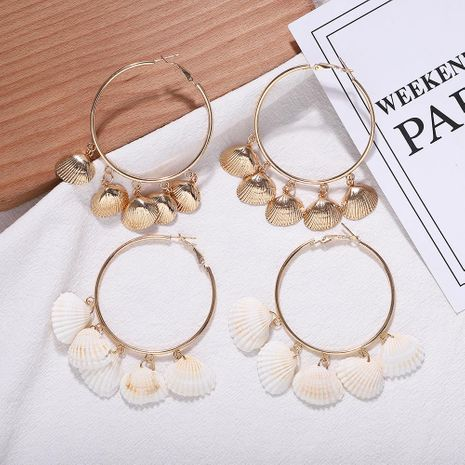 Alloy circle shell earrings fashion earrings accessories jewelry new NHJQ176164's discount tags