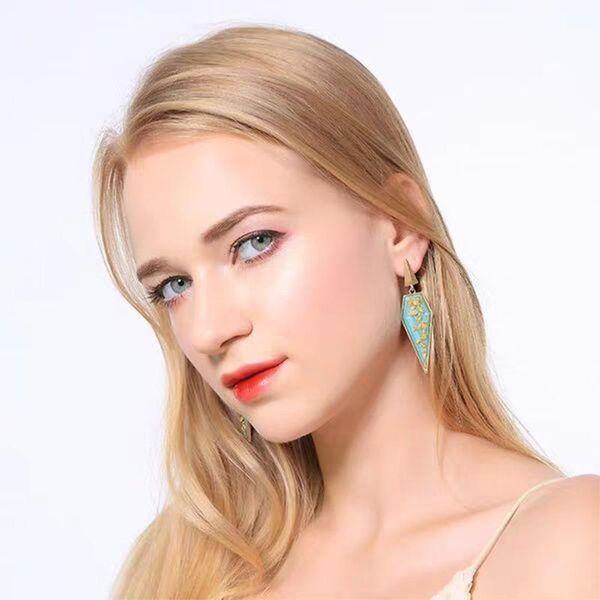 Fashion alloy resin geometric earrings simple earrings personalized earrings NHJQ176180