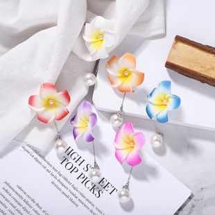 Explosion models flower pearl earrings new earrings passion romantic jewelry accessories NHJQ176200's discount tags