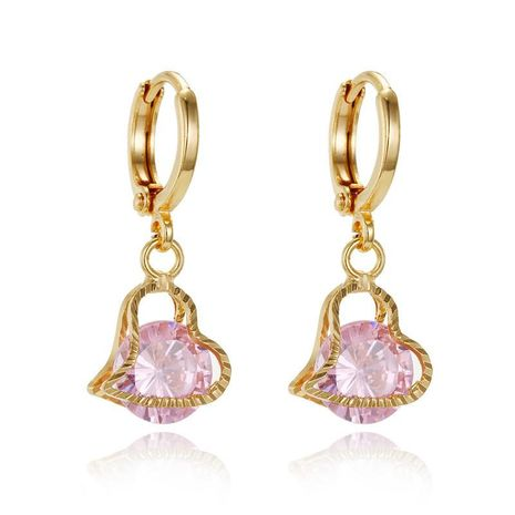 New creative fashion charm gold ring earrings small zircon earrings NHGO176086's discount tags