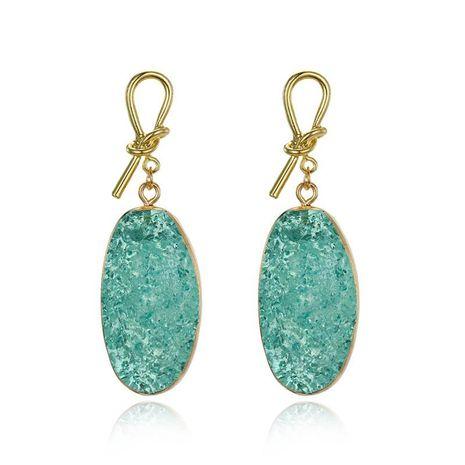 Bohemian gold bow stud earrings natural stone long big earrings fat earrings NHGO176093's discount tags