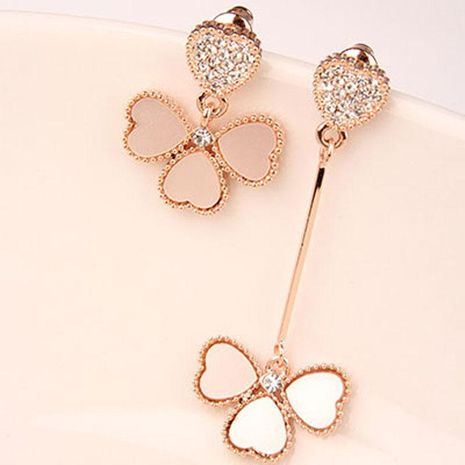 Asymmetric fashion clover earrings long and elegant elegant fresh female earrings NHDP176216's discount tags