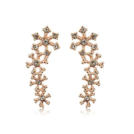 Temperament earrings beautiful diamond-studded bone clip earrings elegant bridal jewelry NHLJ175918's discount tags