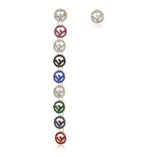 Explosion earrings letter earrings asymmetric temperament earrings NHKQ175972's discount tags