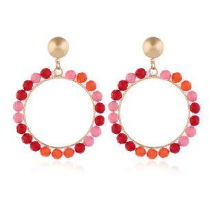 Stud Earrings New Acrylic Beaded Earrings Fashion Geometric Earrings NHKQ175974's discount tags