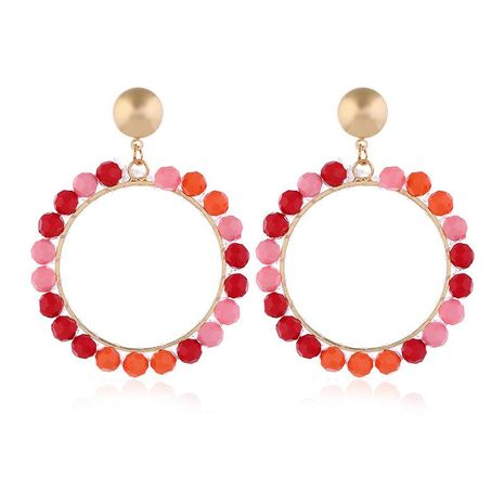 Stud Earrings New Acrylic Beaded Earrings Fashion Geometric Earrings NHKQ175974's discount tags
