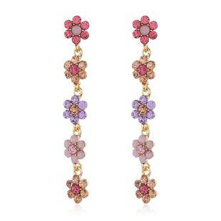 Bohemian rhinestone flower earrings fresh fashion flower pearl earrings NHKQ175975's discount tags