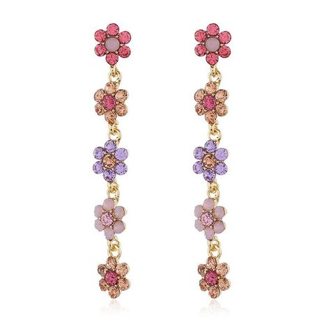 Bohemian rhinestone flower earrings fresh fashion flower pearl earrings NHKQ175975's discount tags