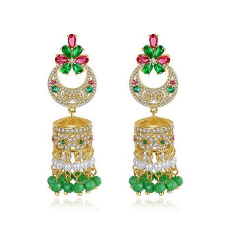 Stud Earrings Color Bells Pearl Women's National Wind Stud Earrings Gifts NHTM175992's discount tags