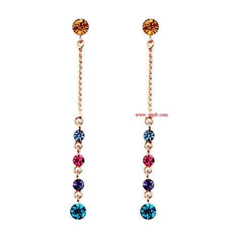 Fashion earrings colorful world Austrian crystal earrings earrings NHLJ175916's discount tags