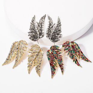 Flying bird wings rhinestones and diamond earrings tide female pull wind earrings NHJE176135's discount tags