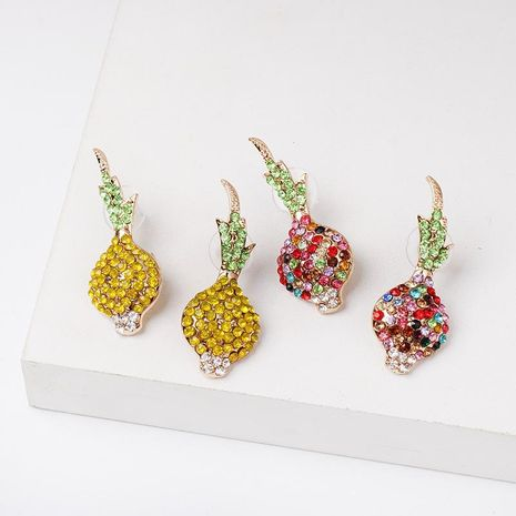 Cute Harajuku style garlic plated diamond stud earrings fashion earrings female NHJJ176118's discount tags