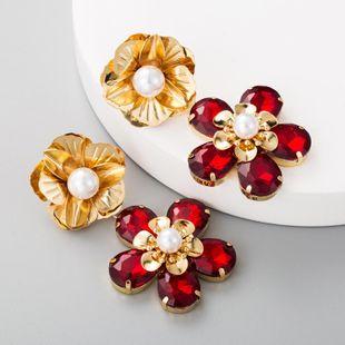 Fashion Floral Multilayer Diamond Earrings Women's Alloy Vintage Bohemian Earrings NHLN175954's discount tags