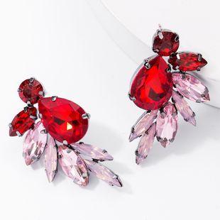 Earrings new fashion alloy diamond glass drill full diamond earrings female super flash ear NHJE176144's discount tags