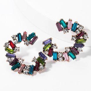 C type alloy diamond rhinestone full diamond earrings female earrings NHJE176137's discount tags