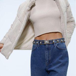 Alloy Diamond Pearl Belt Fashion Retro Belt Jewelry Accessories Casual Apparel Accessories NHJQ176184's discount tags