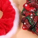 Christmas series velvet cloth hair ring large intestine circle fashion hair accessories twopiece NHMD175904