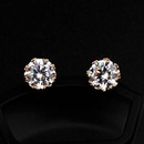 Exquisite small crown zircon stud earrings simple girl earrings NHLJ175940