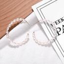 Pearl Beaded Cshaped Earrings Fashion Joker Earrings NHJQ176178
