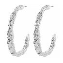 Stylish and simple cool style personality Cshaped vintage alloy earrings NHMD175886