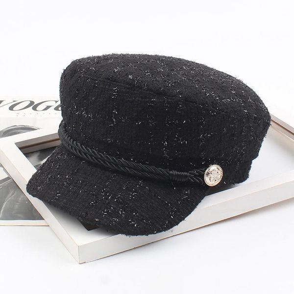Hat female navy cap Japanese literary student newspaper boy hat small fragrance simple painter hat NHXO176354