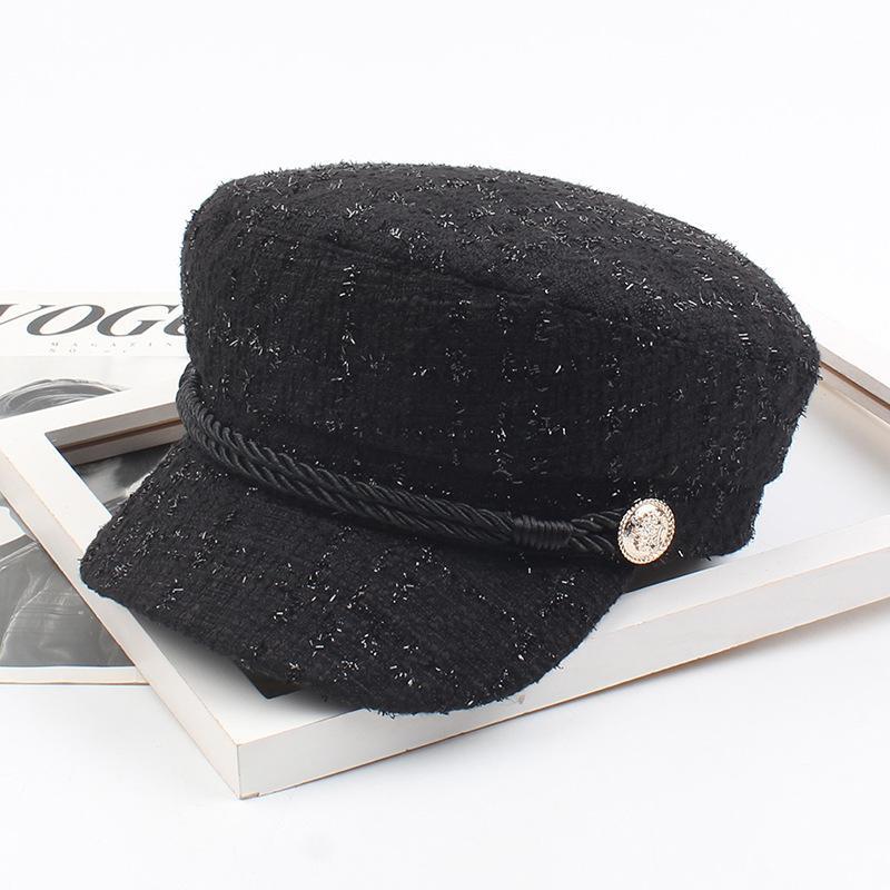 Hat female navy cap Japanese literary student newspaper boy hat small fragrance simple painter hat NHXO176354