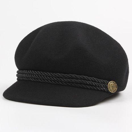 Hat female woolen three-dimensional octagonal hat cap beret NHXO176360's discount tags