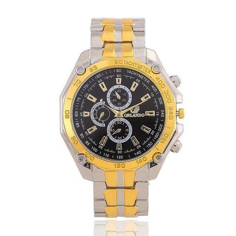 Orendo gold alloy steel belt watch men's three eyes six needles three eyes men's watch NHSY176298's discount tags