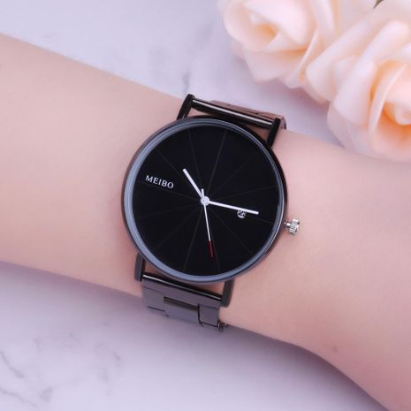 New couple steel belt watch with calendar simple casual men and women models quartz watch NHHK176232's discount tags