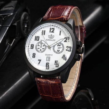New belt watch men's fashion digital calendar quartz watch NHHK176235's discount tags