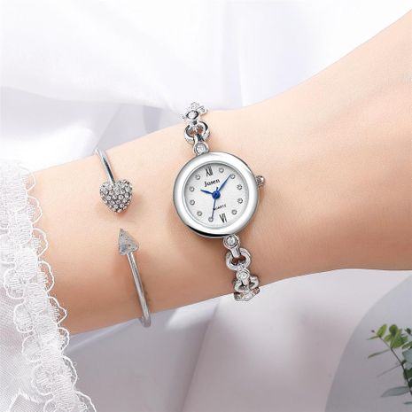Female student bracelet watch temperament compact snow surface quartz steel belt ladies NHSY176294's discount tags