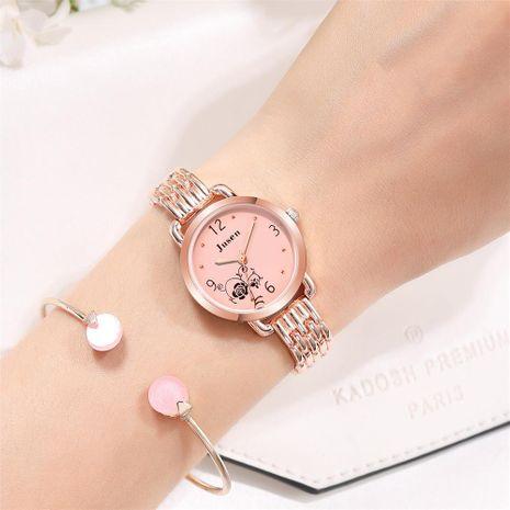 Women's Bracelet Watch Exquisite Women's Watch Rose Pattern Quartz Steel Strip NHSY176295's discount tags