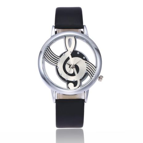 Ladies Watch Fashion Personality Hollow Glass Music Symbol Quartz Watch NHSY176300's discount tags