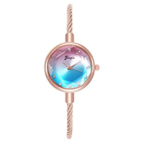 Candy color ladies bracelet watch alloy quartz watch female models NHHK176229's discount tags