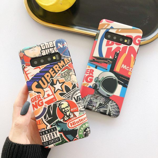 Cartoon street brand Samsung note8 mobile phone shell s9plus personality graffiti s10 + applicable foreign trade s8 protective shell NHDV176308
