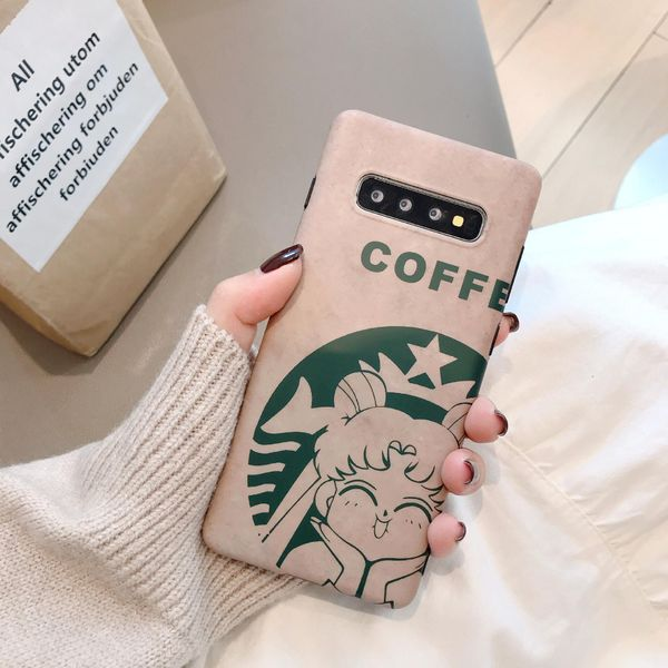 Cute beautiful girl cartoon Samsung s10+ mobile phone case s8plus matte note10 soft shell for s9+ shell NHDV176321