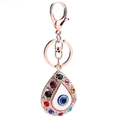Blue eyes key ring pendant glass pendant rhinestone pendant key chain cartoon NHMM176236's discount tags