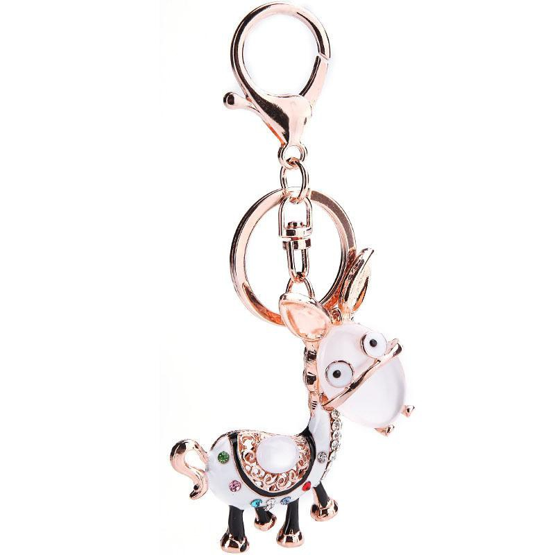 Color Diamond Accessories Pendant Cat Eye Metal Cartoon Animal Car Keychain Gifts NHMM176241