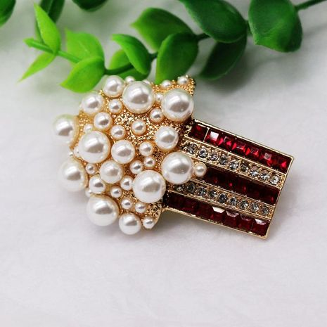 Brooch length drill size pearl brooch popcorn brooch pin silk scarf pin NHOM176503's discount tags