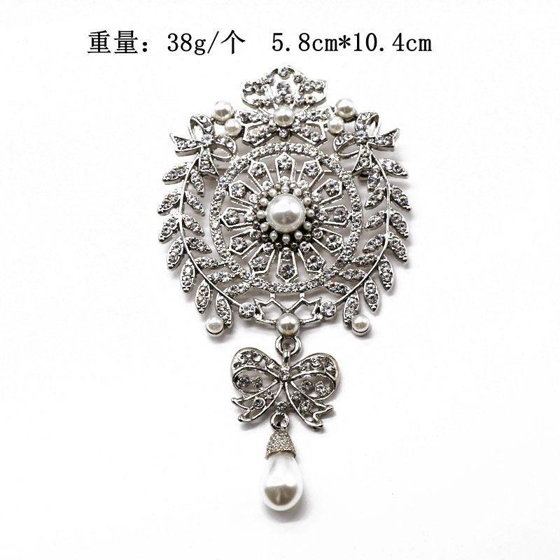 High-end luxury full diamond atmosphere pearl drop brooch coat coat pin heavy work exquisite pin NHOM176508