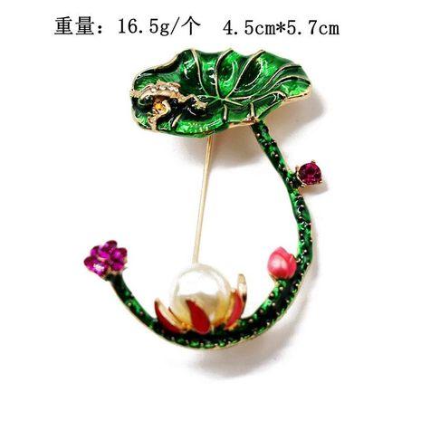 Cute flower pearl brooch female high-grade color temperament neckline anti-lighting pin buckle NHOM176510's discount tags