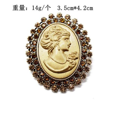 Retro man avatar oval brooch coat coat pin embossed beauty avatar retro brooch NHOM176511's discount tags