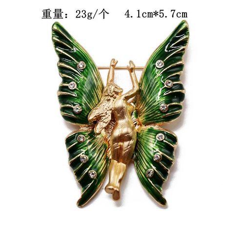 Green wings brooch pin temperament high-grade brooch accessories cardigan luxury brooch pin NHOM176512's discount tags
