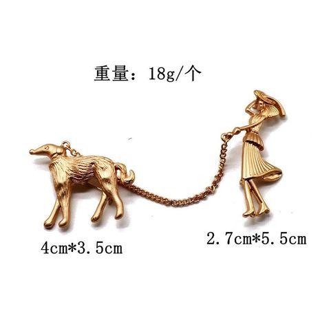 Animal metal pin brooch gold high-grade brooch anti-light coat pin NHOM176515's discount tags