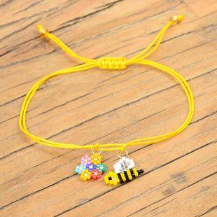 New simple fashion children's jewelry Miyuki rice beads woven bee flower bracelet NHGW176428's discount tags